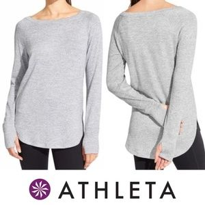 Athleta Heather Gray Pose Shirt XS